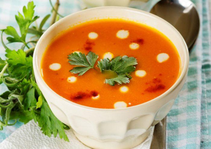 супы пюре на овощном или курином бульоне