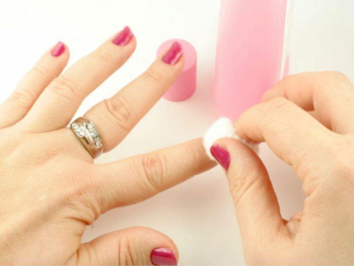 аллергия на материалы для снятия лака