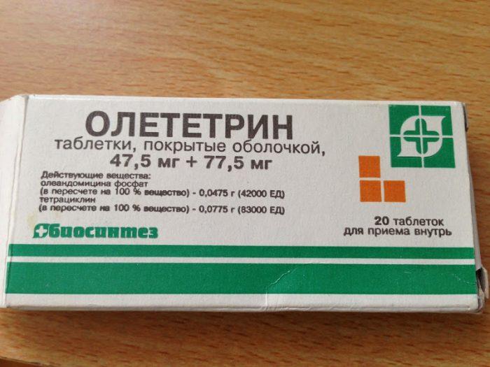 препарат под названием олететрин