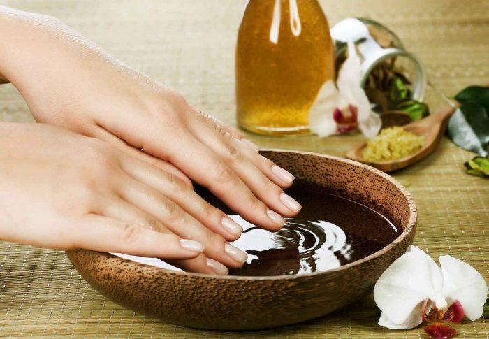 ванночка на основе растительного масла