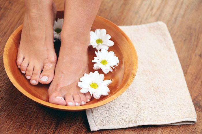 ванночки для ног с ромашкой