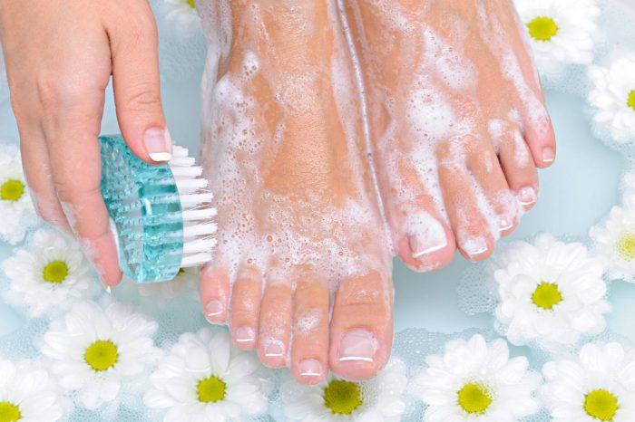 мыльно-содовые ванночки для ног