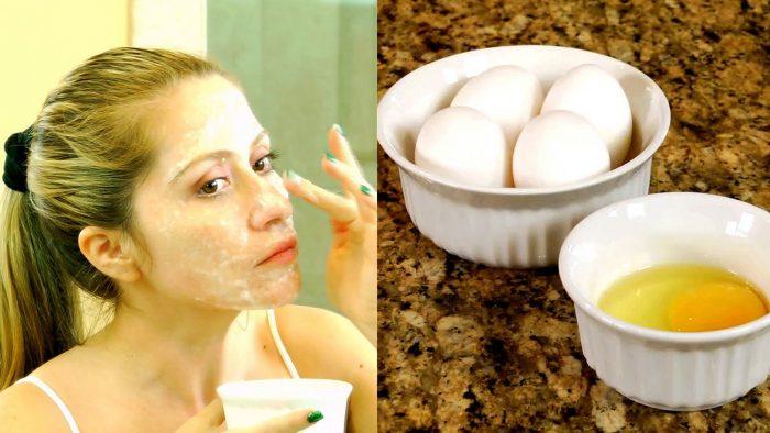 маска от черных точек с яйцом