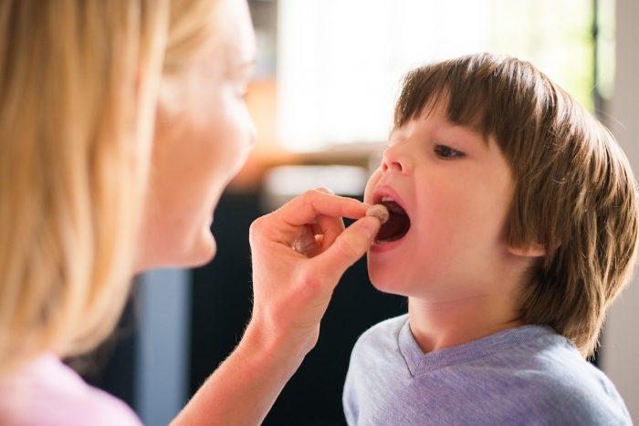 дозировка зависит от массы тела ребенка